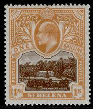 More details for st. helena edvii sg59, 1s brown & brown-orange, m mint. cat £26.