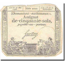 [#641226] France, 50 Sols, Other, 1793, 1793-05-23, Ef, Km:A70b