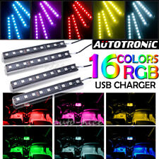 36 LED RGB Strip Light Car Interior Atmosphere Footwell Decor Lamp Colorful USB