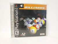 BILLIARDS PLAYSTATION PS1 COMPLETE IN BOX W/ MANUAL