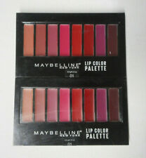 2 palette lot MAYBELLINE LIP COLOR PALETTE 01 unsealed FLAW
