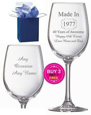 Personalised Engraved wine glass PRESCRIPTION CIDER any name added CIDER