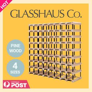 Glasshaus 20, 42, 72 or 110 Bottle Timber Wine Rack Wooden Storage System Cellar