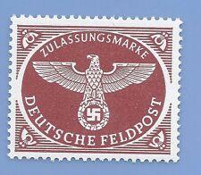 Germany  Third Reich German Swastika Eagle Feldpost stamp MNH WW2 ERA Brown