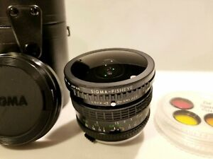 Sigma 8mm f/4 Fisheye Lens for Olympus OM Mount - excellent condition!