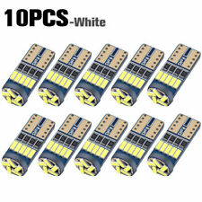 10 x White LED T10 194 168 W5W Interior Map Dome Trunk License Plate Light Bulbs