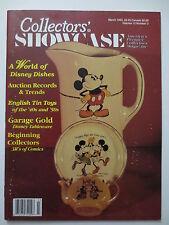 Collectors Showcase Magazine # 3 1993 Disney Tableware - English Tin Toys (M440)