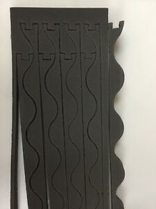 16 x FOAM INFILL STRIPS CORRUGATED OR ROMA STYLE ROOF SEALS - FREE POST