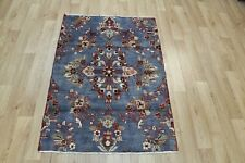 Old handmade Persian Hamedan grey rug 130 x 90 cm