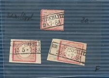 Pr Vor / GROSS - STREHLITZ je Ra2 auf DR 4 + 2 Briefstücken DR 4, feinst-Kab.