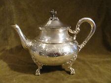 Gorgeous 1900 french sterling guilloche silver large tea pot Louis XVI Roussel