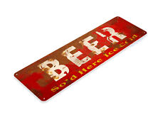 TIN SIGN B459 Beer Served Here Bar Pub Lounge Rustic Beer Sign Decor