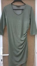 Olive Green Scarlett Dress with ruched side (Size 12-14) - New Without Tags