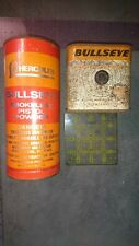 Vintage Lot of 2 Hercules Smokeless Gun Powder Empty Tin Cans bullseye old