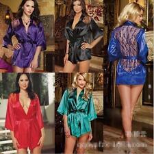 Women Sexy/Sissy Lingerie Babydoll Bathrobe Lace Thong Underwear Nightwear M-XXL