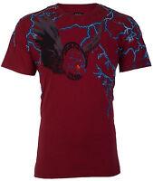 DIESEL Mens T-Shirt LAUR Lightning RED Casual Designer Jeans $98 NWT