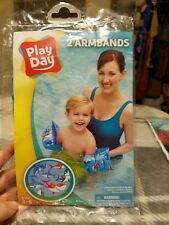 Play Day Ages 3-6 Armband Water Wings blue with sharks