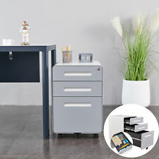 Steel Cabinet Storage Lockable File Home Office Metal Storage Cabinet With3 Drawer