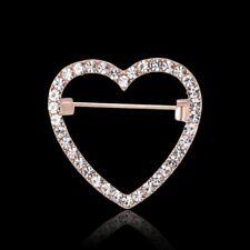 Collar Beastpin Women Charm Jewelry Gift Fashion Crystal Love Heart Brooch Pin