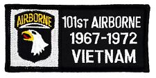 "101st Airborne 1967-72 Vietnam Patch (262) 4"" x 2"" Embroidered Patch 65438"