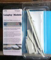 Canal Lock Walls Brick Effect A18e UNPAINTED N Gauge Scale Langley Models Kit