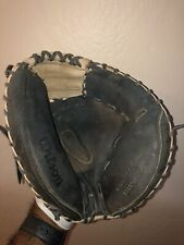 "New listing Wilson A1000 Catchers Mitt Glove 32 1/2"" Ecco Leather RHT Good Shape!"