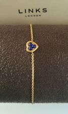 Links of London - Open Heart Yellow Gold Vermeil Lapis Stone Toggle Bracelet