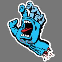 Santa Cruz Screaming Hand Skateboard Vinyl Sticker Car Truck Window Decal Blue