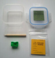 4x Geocache Containers -  Labels, Logbooks, Pencils, Sharpeners - V Small
