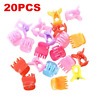 20PCS Kids Charm Colorful Assorted Mini Small Plastic Hair Clips Claws Clamps