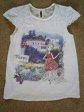 VERY PRETTY 'HAPPY' PRINT A-LINE TSHIRT FROM GEORGE - AGE 11-12 YRS