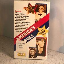 VHS AMERICAS HEROES VIDEO CLASSICS NEW NIB HALL FAME BABE RUTH JOHN KENNEDY SALK