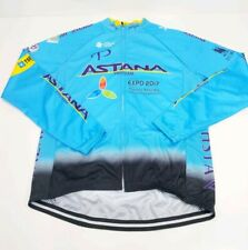 Astana Pro Team Future Energy Kazakhstan Long Sleeve Zip Cycling Jersey Shirt S