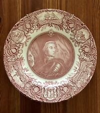 Wedgwood Georgia History Dinner Plate Red/Pink James Oglethorpe