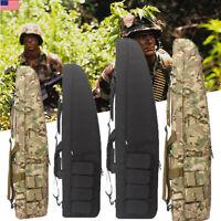 """39"""" 47"""" Long 600D Soft Padded Tactical Gun Case AR AK Bag Assault Rifle Storage"""