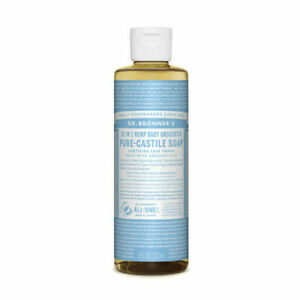 Dr Bronners Pure Castile Soap Liquid (Hemp 18-in-1) Baby Unscented 237ml