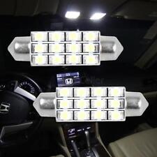 2x 6000K White 42MM 3528 Festoon Dome Map Interior LED Light bulb 211-2