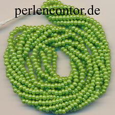 Glasperlen  18 g  grün lüster  3,1 mm Preciosa Rocailles 1000 Stück (AZ1218)
