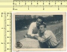 #019 Two Guys, Men Closeness Pals, Gay Int Males Portrait old original photo