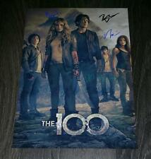 """The 100 PP Cast Signed 12""""x8"""" A4 Photo Poster Eliza Taylor Bobby Morley"""