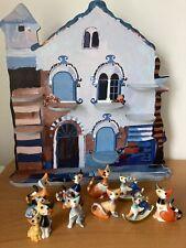 Original Goebel Rosina Wachtmeister Katzenhaus +9 Katzen