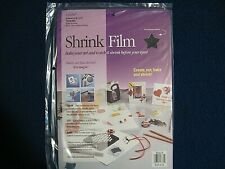- ink jet Grafix Shrink Film 6 sheet pack 8.5 x 11 NEW! unopened Black