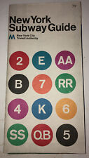 VINTAGE NYC 1974 NEW YORK CITY SUBWAY GUIDE MAP NYCTA VIGNELLI