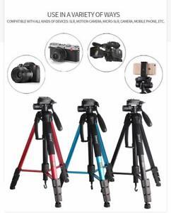 Professional Photography Equipment Tripod for DSLR Canon Nikon Sony LG Blue