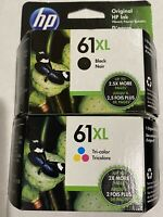 "HP 61XL Black / 61XL TRI-COLOR VALUE PACK INK CARTRIDGES CZ138FN  ""NEW RETAIL"""