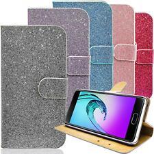 Schutz Hülle Handy Tasche Flip Cover Glitzer Wallet Case Klapp Etui Bumper Bling