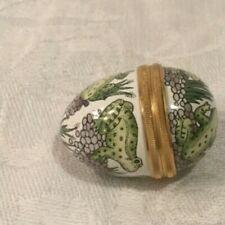 Halcyon Days Frog Egg Enamels England Bilston Battersea Trinket Pill Box Nice