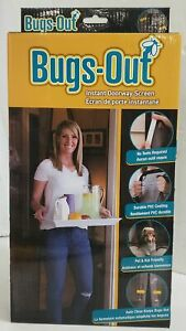 """NEW Bugs-Out Instant Magnetic Doorway Screen, 83"""" x 39"""""""