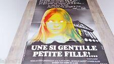 UNE SI GENTILLE PETITE FILLE malefices   ! affiche cinema  epouvante  1976