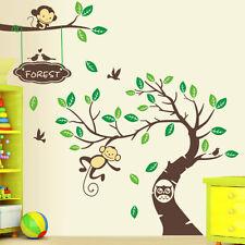 Wandtattoo Zoo Affe Wand Sticker Dschungel Kinderzimmer Wald  Affen Groß XXL